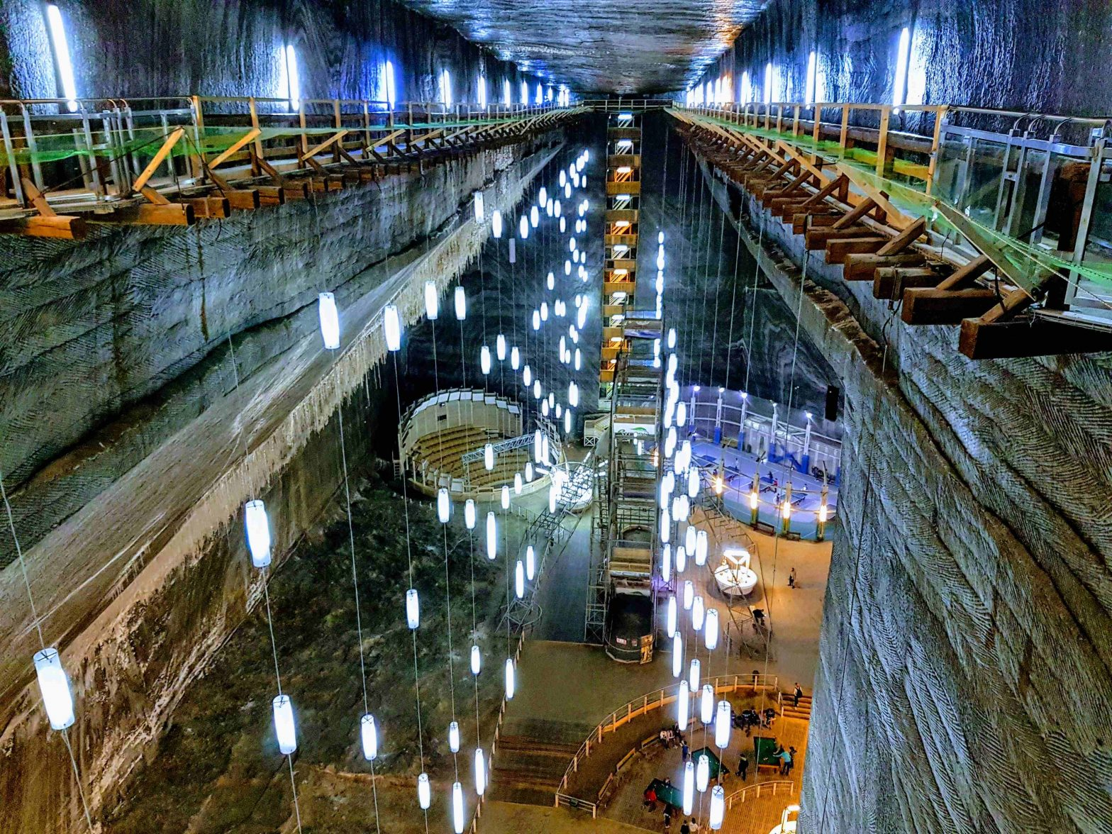 Turda Salt Mine – the man-made underground constellation