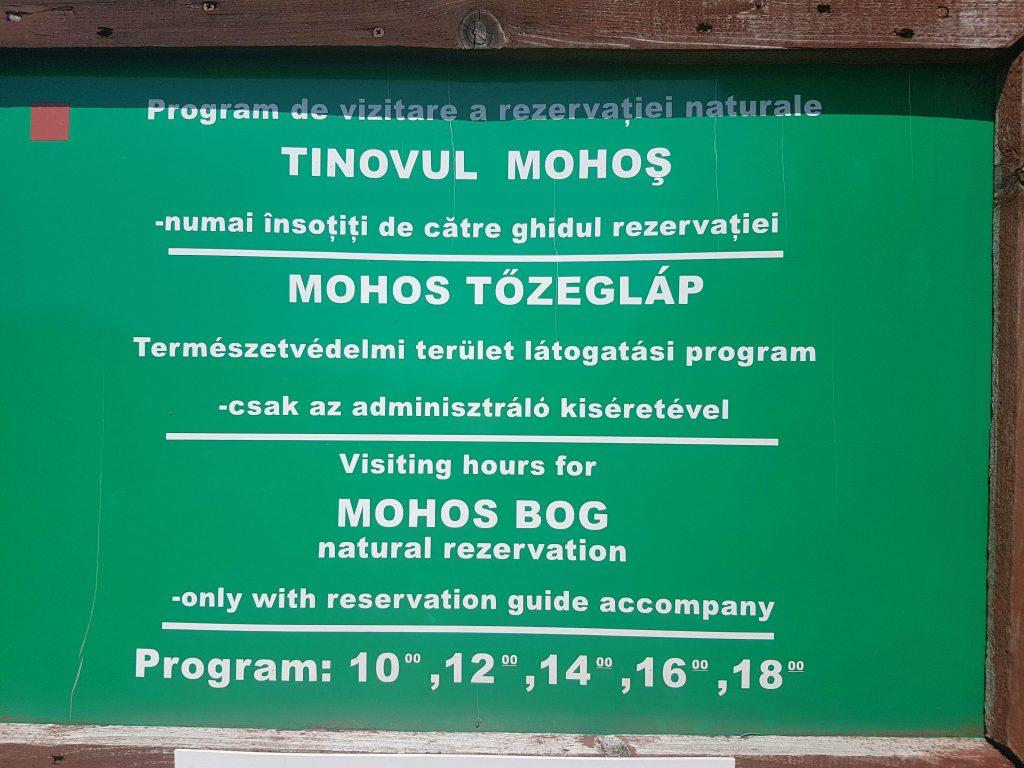 Visit Mohos Peat Bog (schedule)