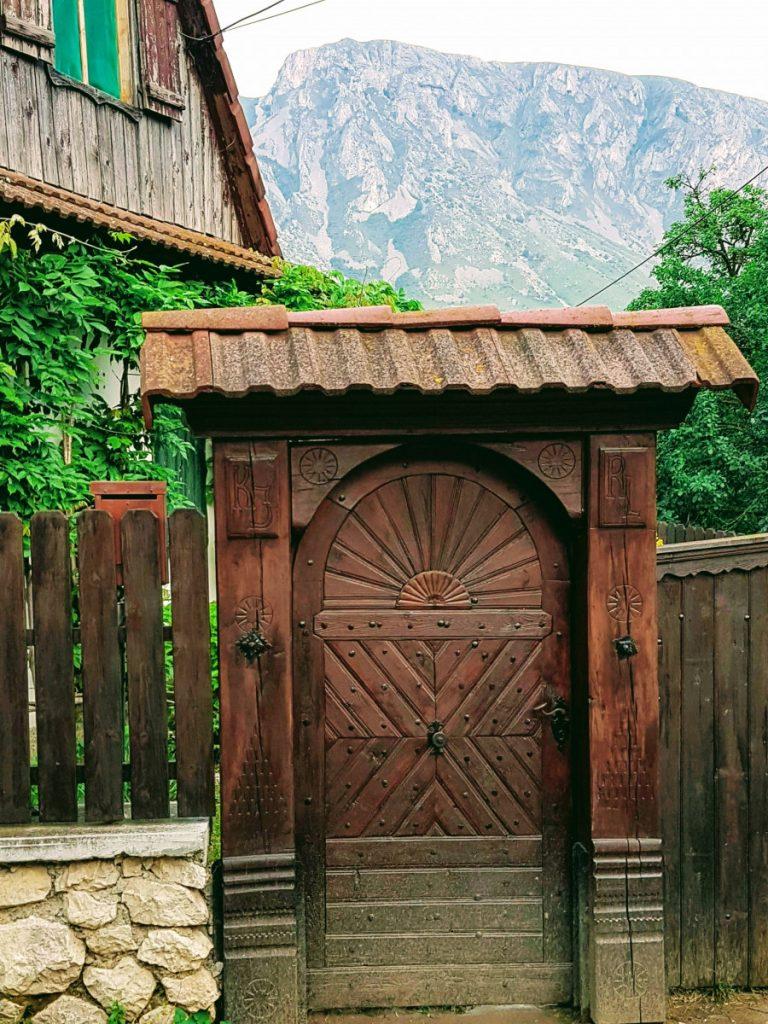 Wood door in Rimetea Village