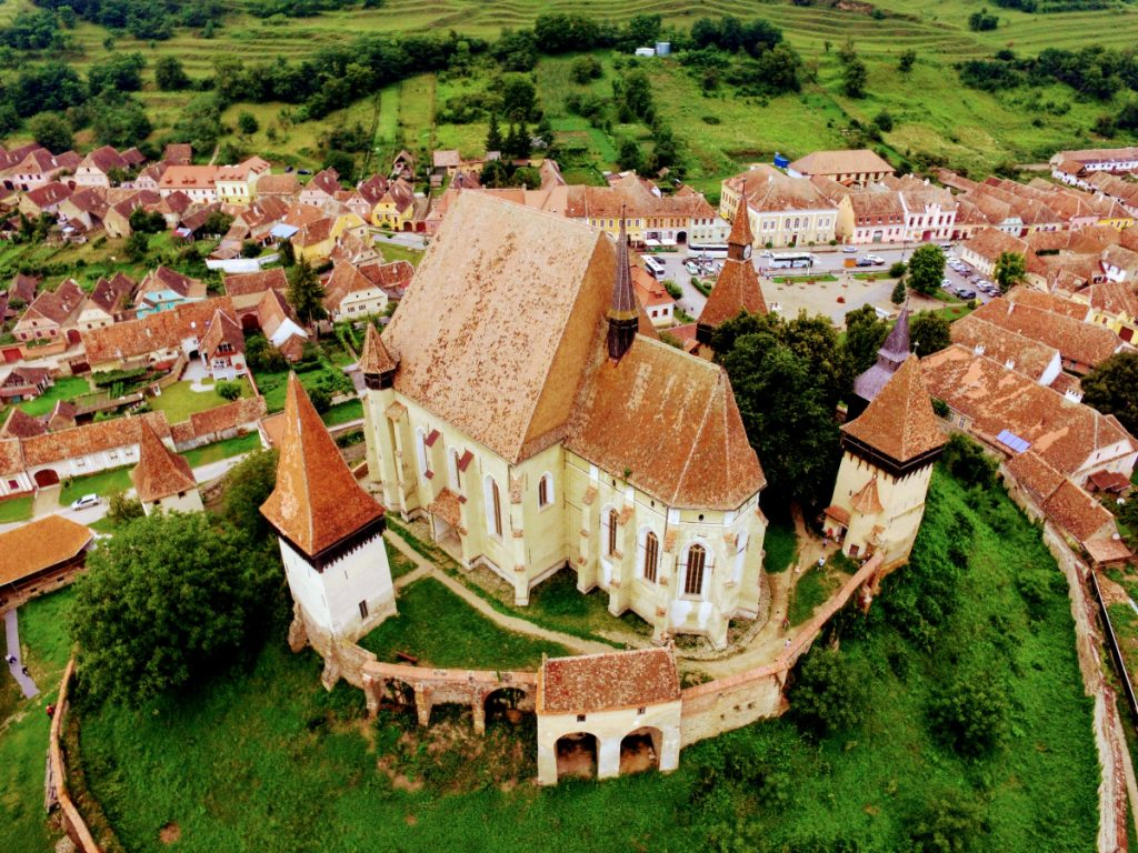 View of Biertan Village