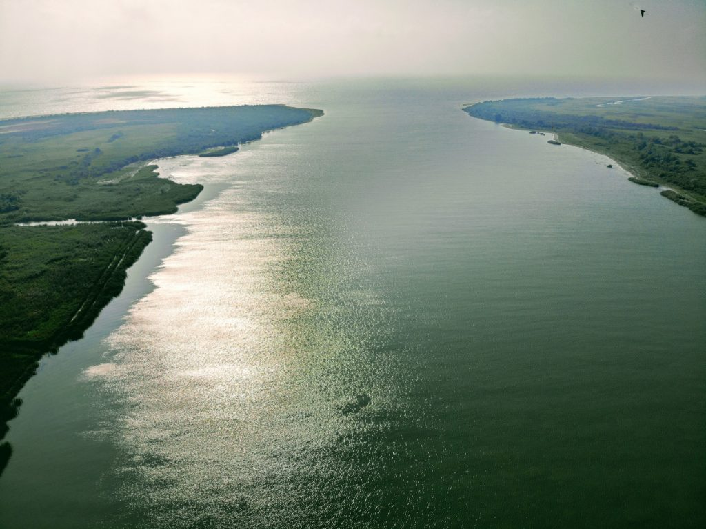 Sfantu Gheorghe Canal flowing into the Black Sea
