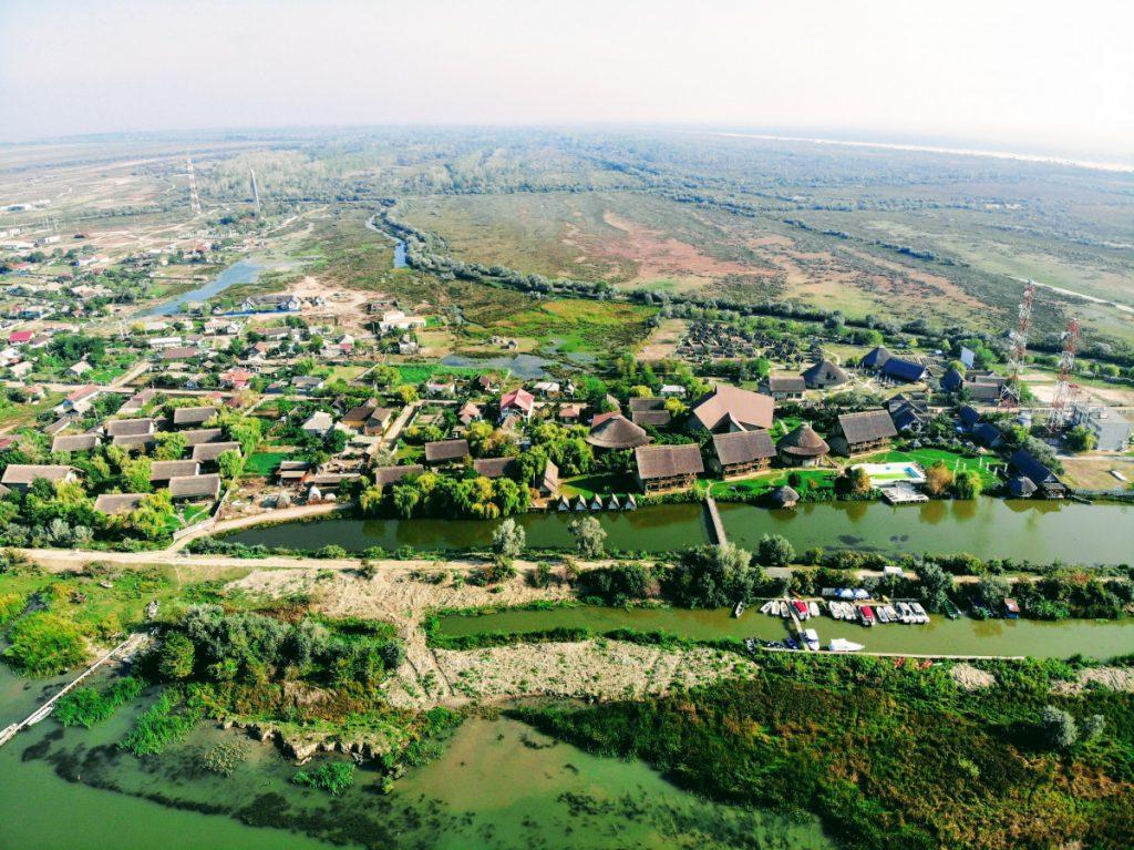 View of Sfantu Gheorghe Village