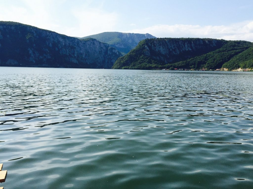 View over Danube River from Dubova Village