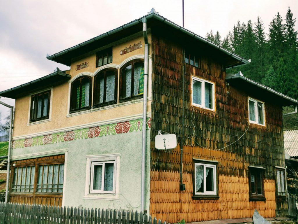 Traditional house in Ciocănești Village (Bucovina)