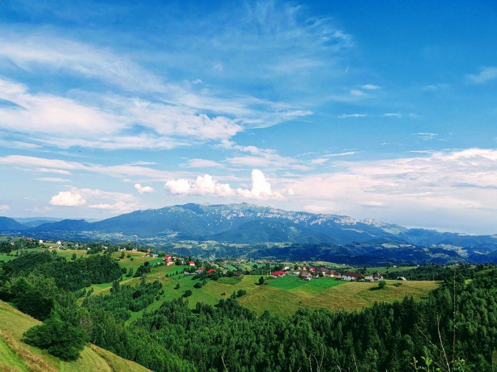 View of Bucegi from Magura