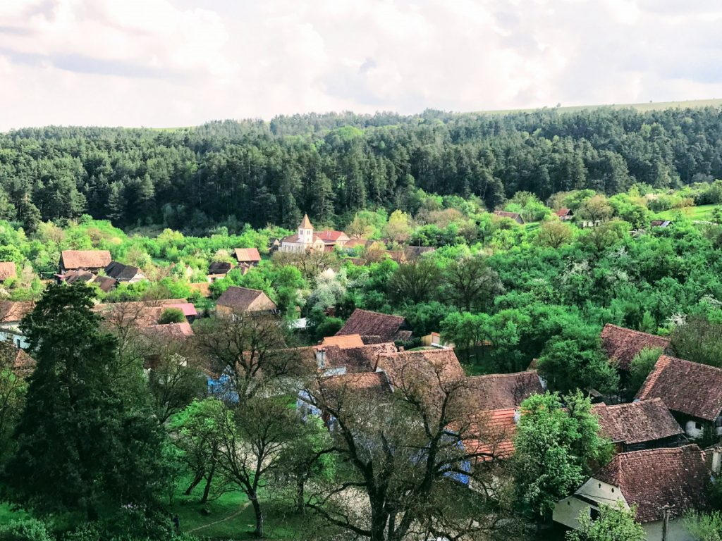 View over Viscri Village from the Church