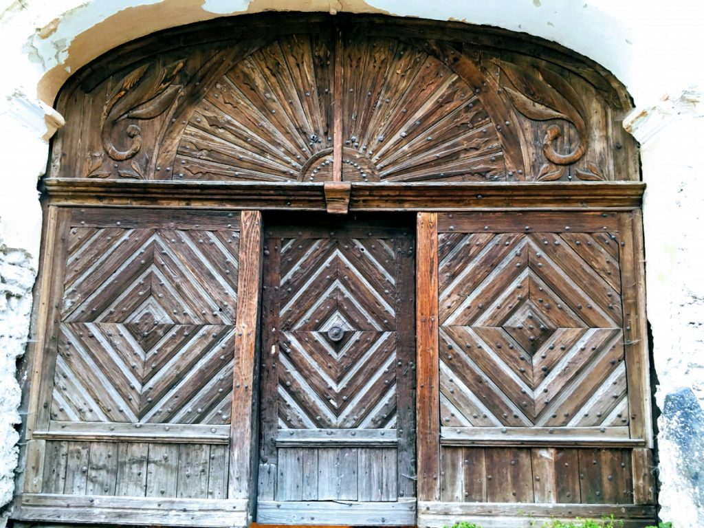 Wood Door in Rosia Montana