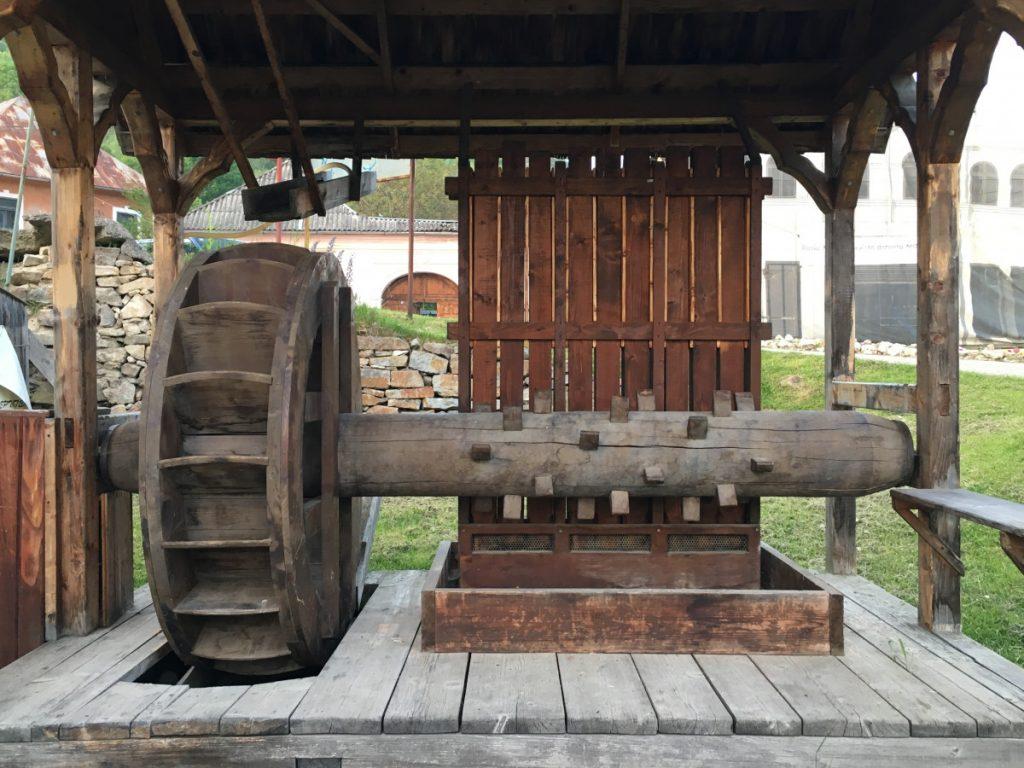 Mining equipment in Rosia Montana