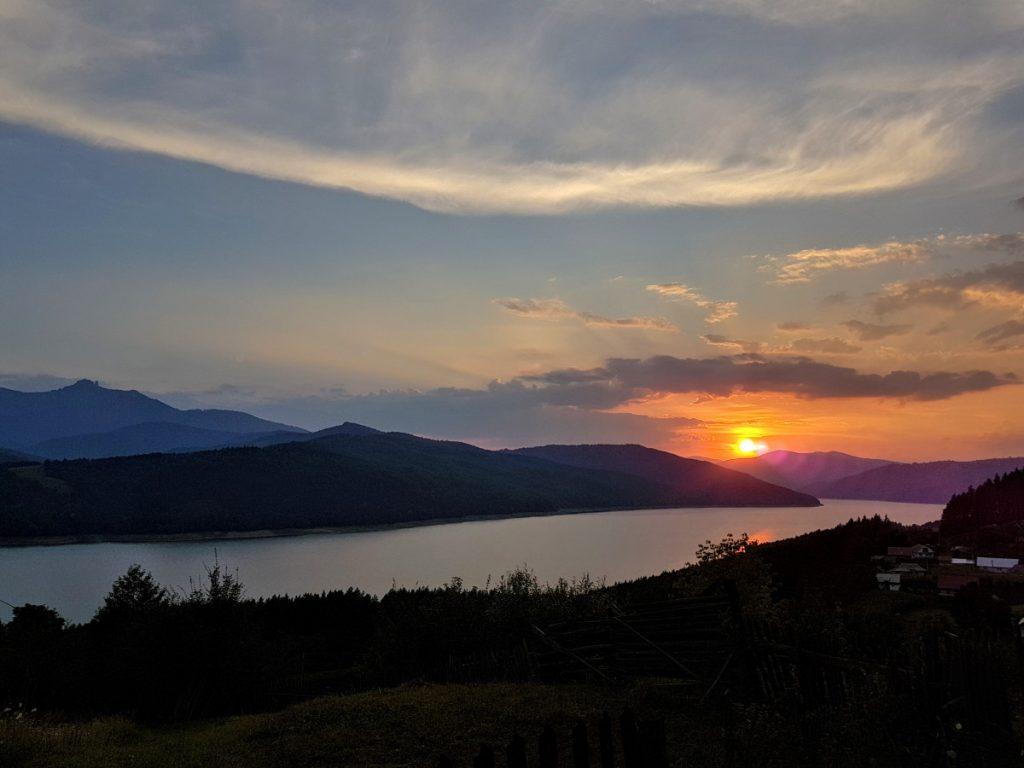 Lake Bicaz at sunset