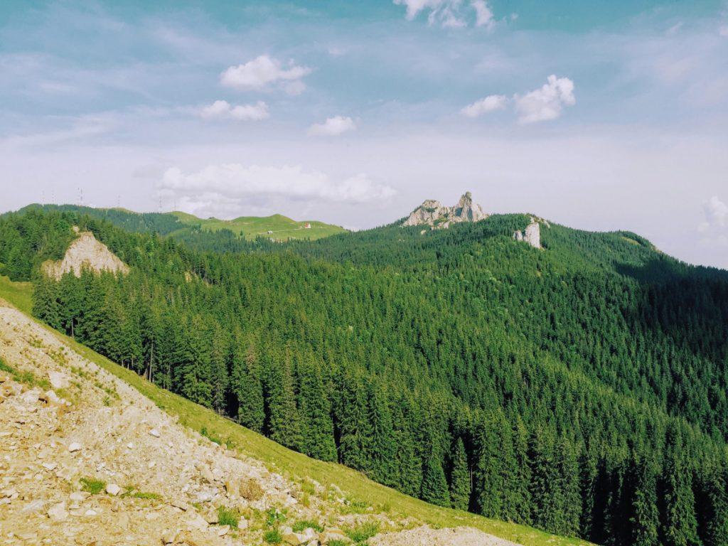 Transrarau Road - view of Rarau Mountains