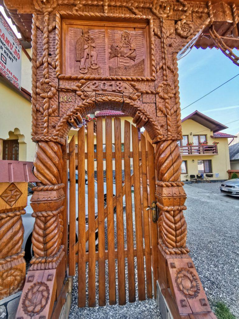 Wooden Gate in Breb Village, Maramureş