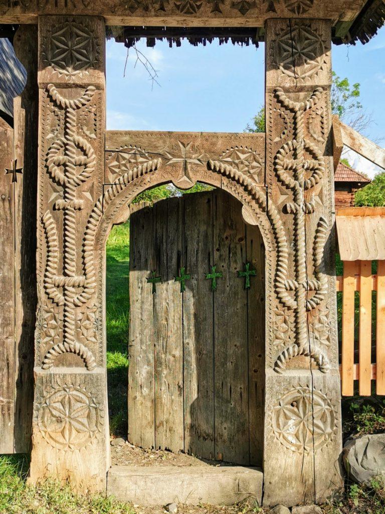 Church gate in Breb Village