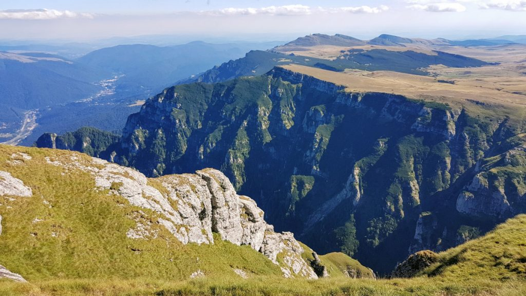 View from Bucegi Mountains over Prahova Valley