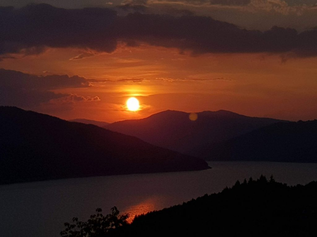 Sunset over Lake Bicaz