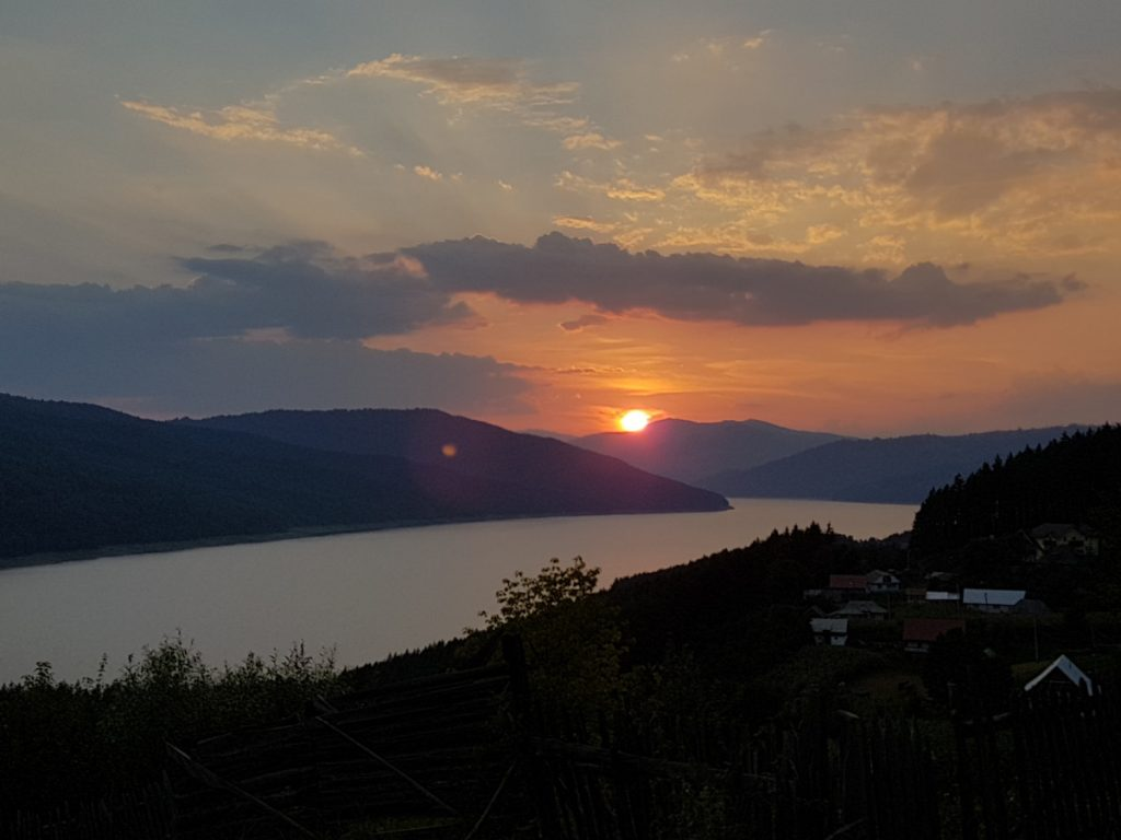 Sunset over Bicaz Lake