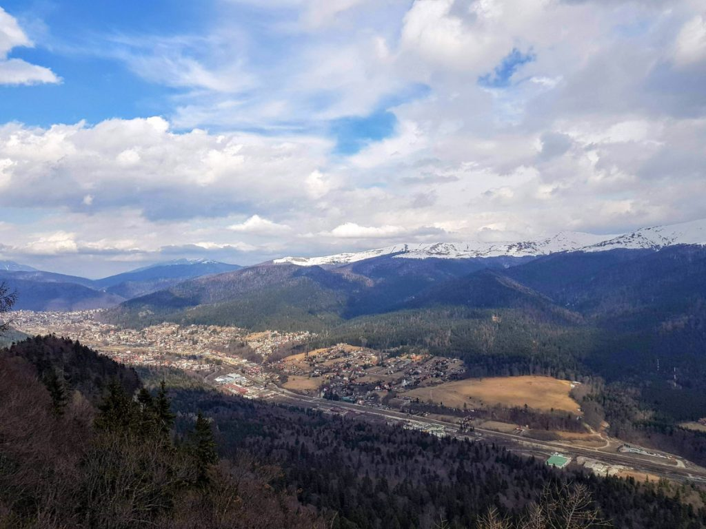 View over Prahova Valley from Franz Josef Viewpoint