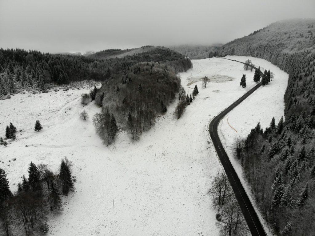 View over Rucar-Bran Mountain Pass