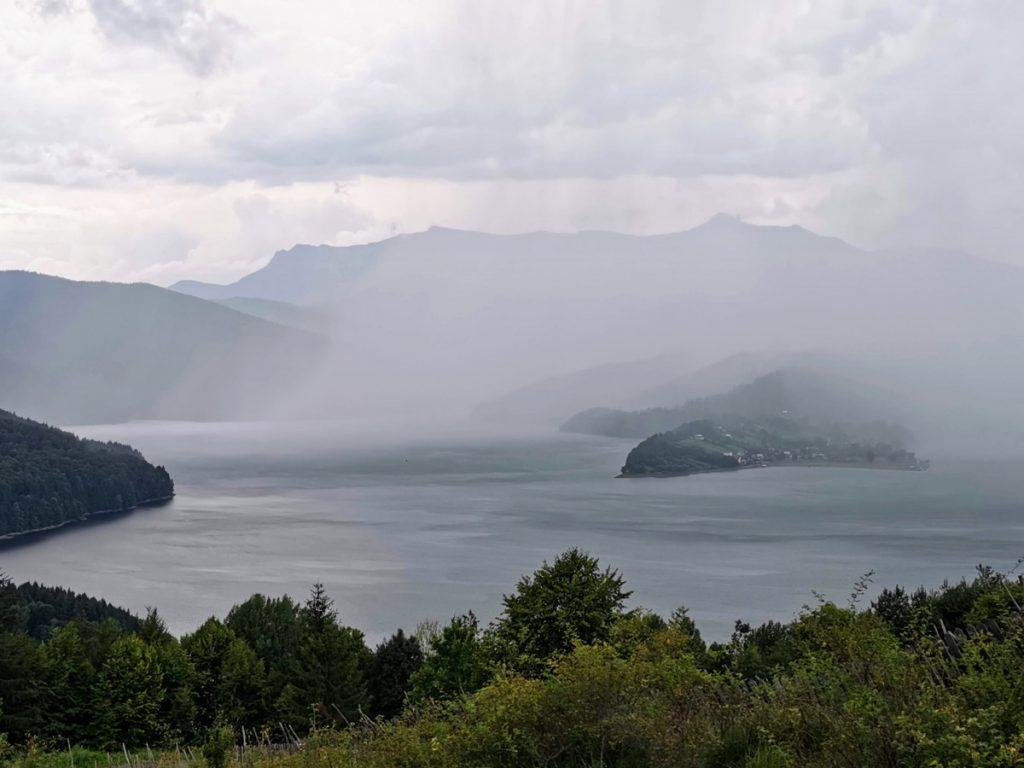 Rain over Lake Bicaz