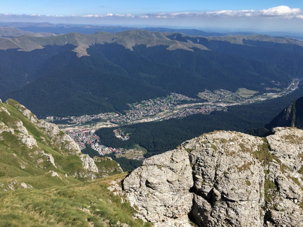 Prahova Valley from Bucegi Mountains