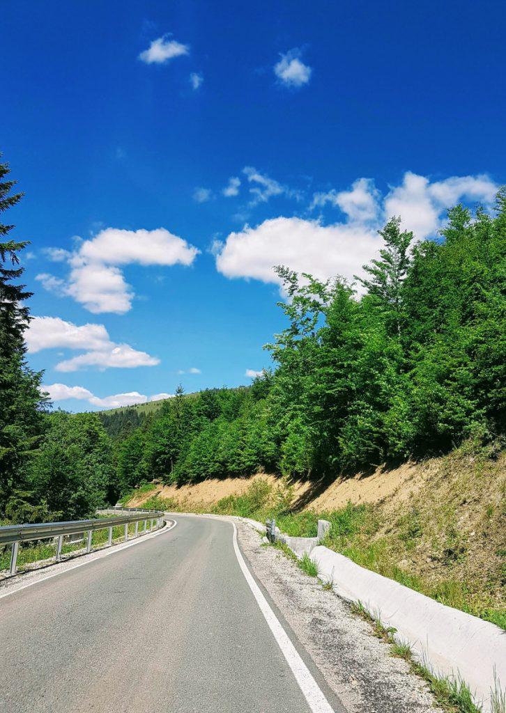 TransApuseni Road with one lane