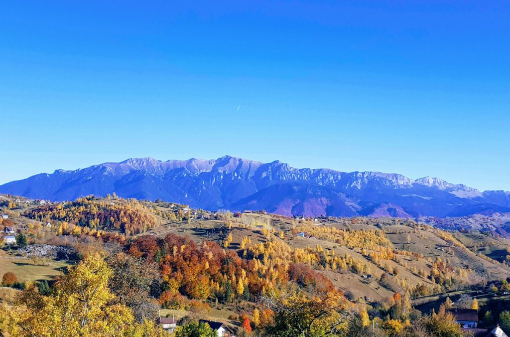 Bucegi Mountains from Magura