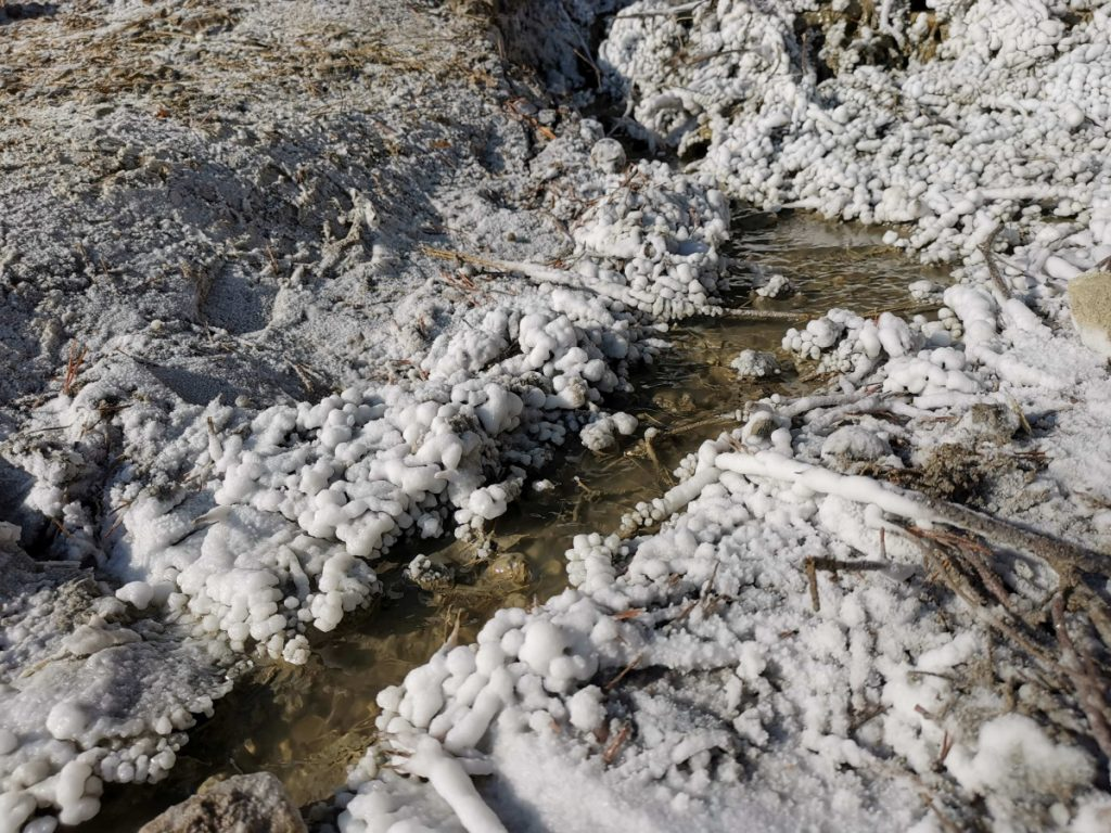 Salt formation at Salt Hill in Praid