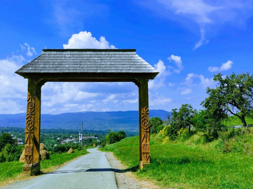 Carved Wooden Gate to enter Breb Village
