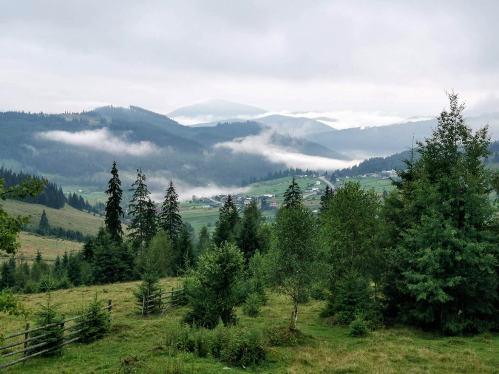 View over Mestecanis Pass: Gate of Bucovina